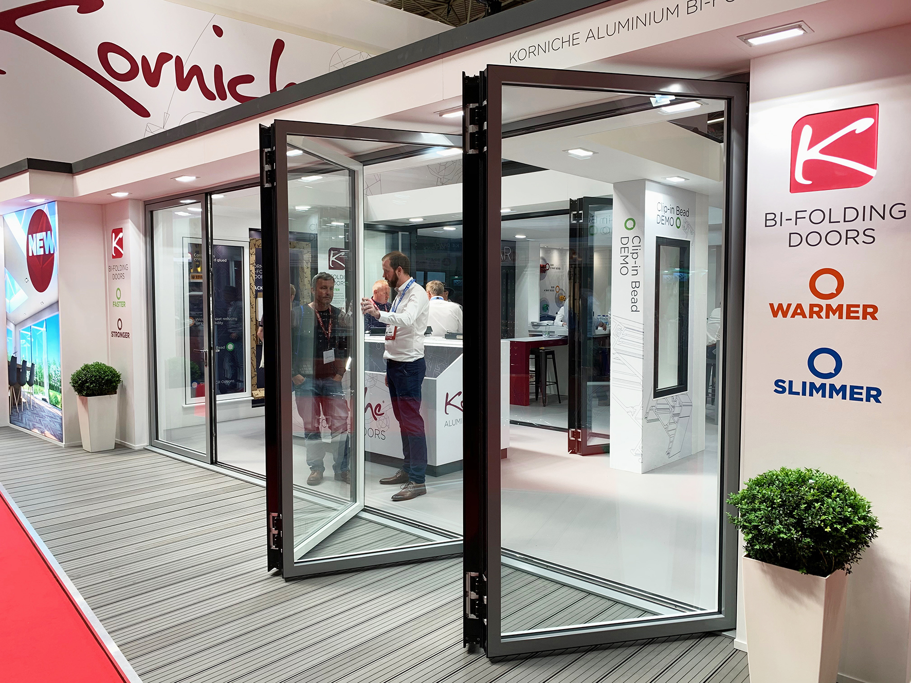 Korniche Bi-Folding Doors Wow at FIT Show - Roofing Today
