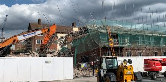 Demolition Works Halt Following Scaffolding Collapse