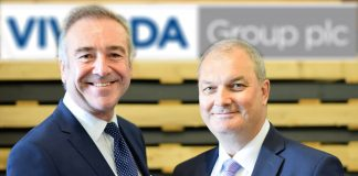 Peter Johnson (left) welcomes Chris Williams (right) to Vivalda Group.
