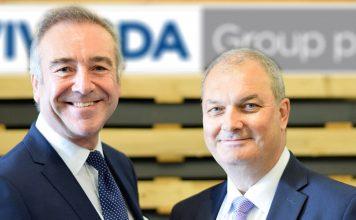 Peter Johnson (left) welcomes Chris Williams (right) to Vivalda Group.