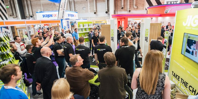 Crowds at UK Construction Week event