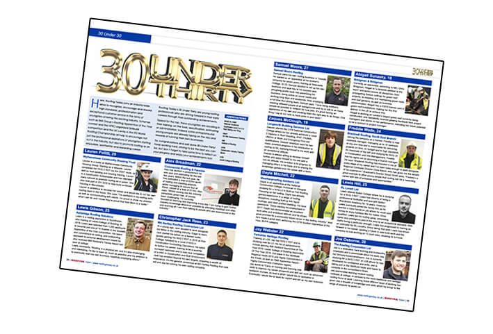 Example pages of 2021 30 Under 30