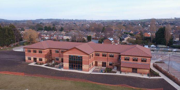school lightweight Metrotile steel roof