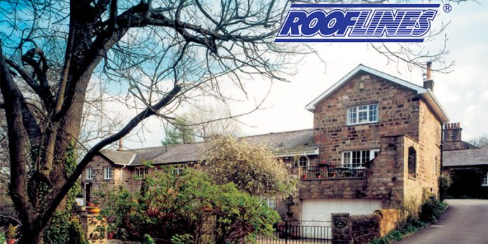 Rooflines logo with picture of a house