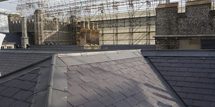 West Dean College historic slate new roof