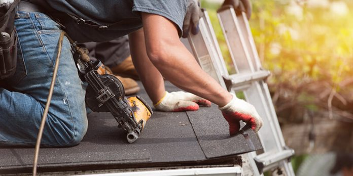 roofer on domestic extension