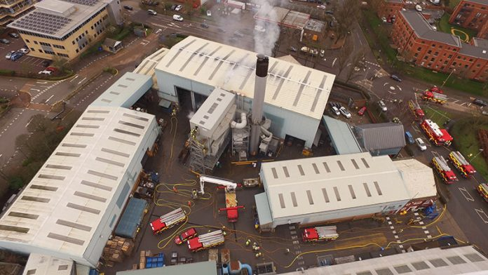 BLM British Lead WElwyn site with fire engines