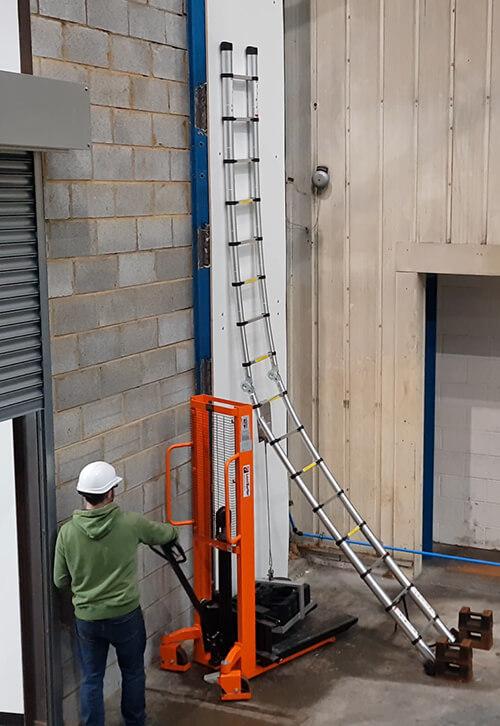 Ladder loading test