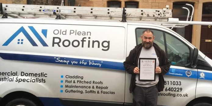roofer and van