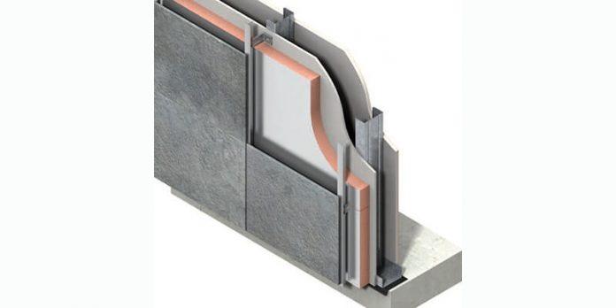 insulation board in cladding system diagram
