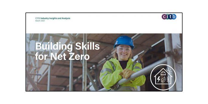 Net Zero Construction jobs report front cover