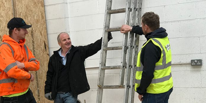 Roofing training with ladders