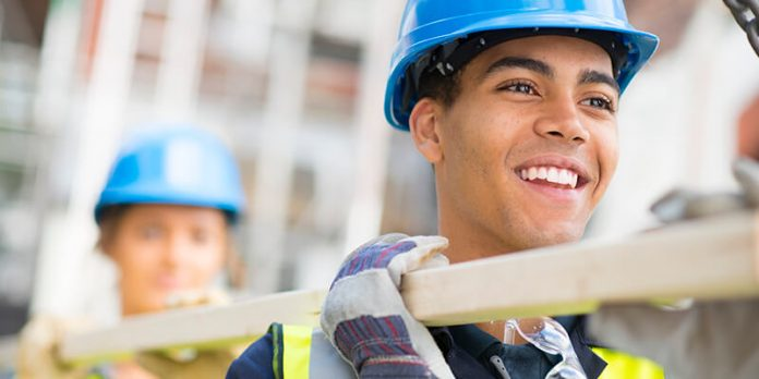apprenticeships in construction site shot