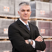 Headshot of Bruce Laidlaw Ops Director at Russell Roof Tiles - Ev Trial