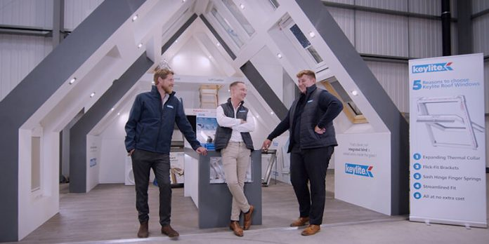 Keylite Product Training online product demos - pictures three trainers in stand area