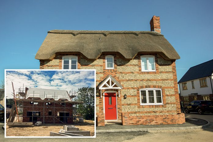 New Thatched house using Magply Boards as roof sarking