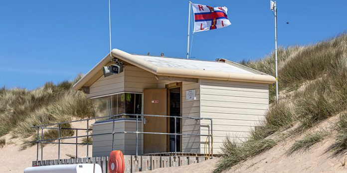 RNLI lifeguard hut cladding harshest conditions