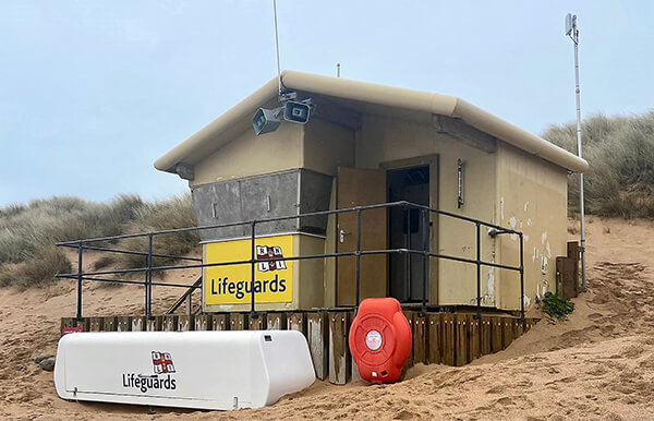 Constantine Bay Lifeguard Hut - now protected by cladding for the harshest conditions