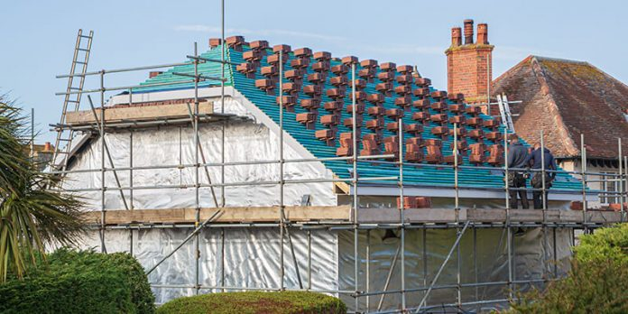 Roof Tiles on a house - building enquiries