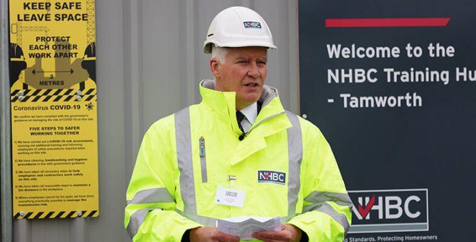 Steve Wood CEO of NHBC opening the NHBC Training Hub