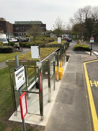 Green-tech bus stop roof