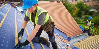 Construction worker on roof - job vacancies