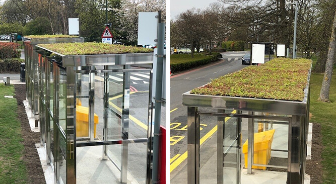 Green Roof Bus Shelters