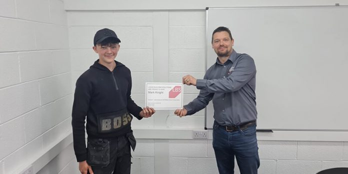 Roofing Student Mark Knight