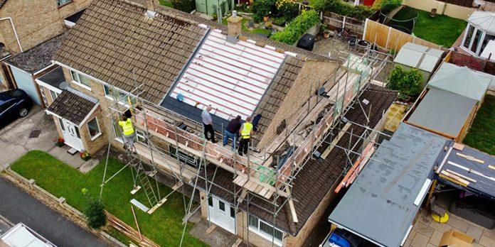 Integrated EnvirotilePV Solar PV roof installation