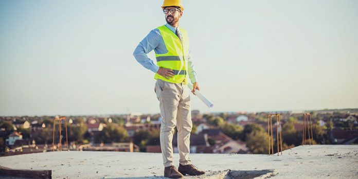 Architect standing on flat roof - RIBA Future Trends August 2021