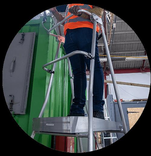 Henchman Ladder platform close up