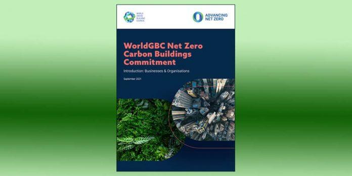 Net Zero Carbon Buildings Commitment front cover image