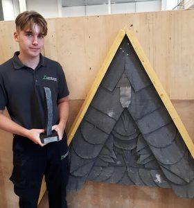 roofing apprentice Harry Aldridge